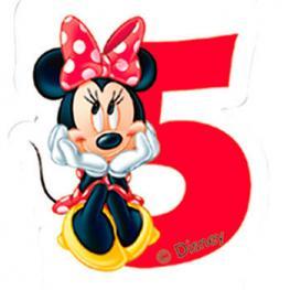 Vela 5 Cumpleaños Minnie Disney Cafe
