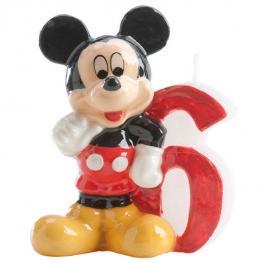 Vela 6 Cumpleaños Mickey Disney