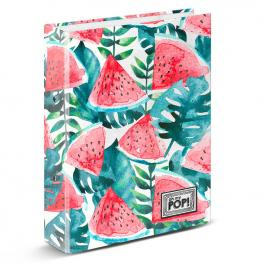 Carpeta Watermelon Oh My Pop A4 Anillas