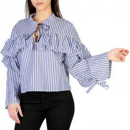 Camisas - Cgl3Vfe 2136 Bianco - Blu - Color: Azul