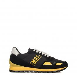 Sneakers - Fend - Er2086 - Low Black - Yellow - Color: Negro