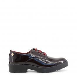 Zapatos Con Cordones - 47512 Burgundy - Color: Rojo