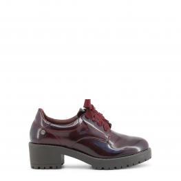 Zapatos Con Cordones - 47543 Burgundy - Color: Rojo