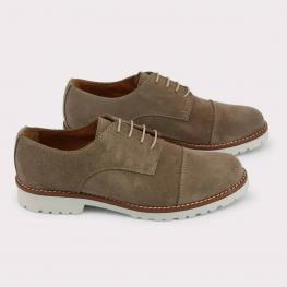 Zapatos Con Cordones - Bolero Taupe - Color: Marrón