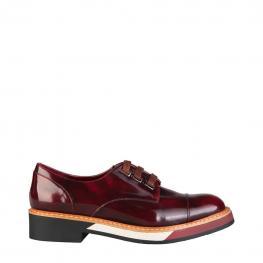 Zapatos Con Cordones - Catharina Bordo - Color: Rojo