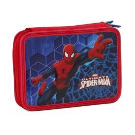B/estuche 2 Cremalleras Spiderman  21X15