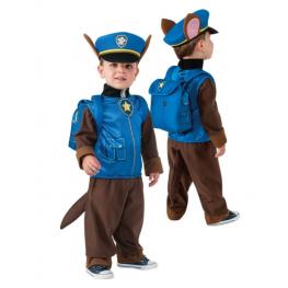 Paw Patrol Disfraz Chase Talla 3-4 Años Incluye Traje Completo Sombrero,mochila Ref 610502