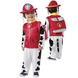 Paw Patrol Disfraz Marshall  Incluye Traje Completo Sombrero y Mochila Talla 2-4 Años Ref 610501