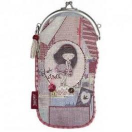Anekke Funda Para Gafas Textil Rojo Ref 22769-7