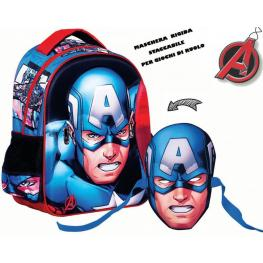 Avengers Mochila Mascara Capitan America 31X24X12 Cm