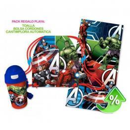 Avengers Set Cantimplora + Toalla + Saco Ref Mv92275