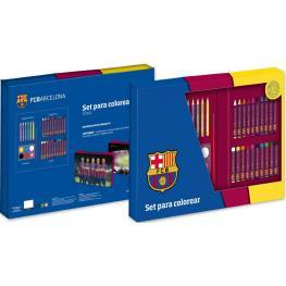 Barcelona Maletin Cuadrado Set Para Colorear 33 Piezas