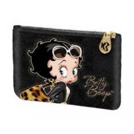 Betty Boop Monedero Cuadrado Leopardo