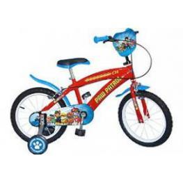 Bicicleta 14 Paw Patrol Roja P.8Kg 100X16X54 4A7Años Ref.1474