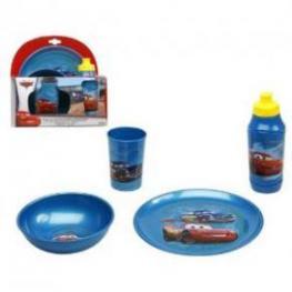 Cars Servicio de Mesa Juego de Plastico 4 Piezas Ref 513