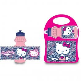 Conjunto Sandwichera y Botella Hello Kitty