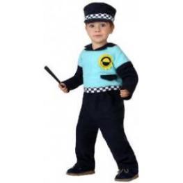 Disfraz de Policia Bébé, Talla 0-6 Meses