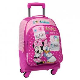 Disney Minnie y Daisy Besties On Tour Mochila Carro Incluido 4 Ruedas 33X44X21Cm Ref 2082851