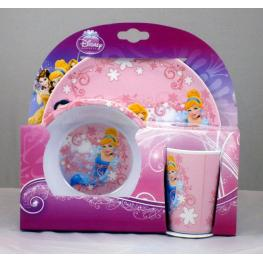 Disney Princess Set 3 Pzs Melamina