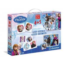Frozen Edukit 4 In 1 Memo, Puzzle 30, Domino, 6 Cubi-Cubes Ref 13495