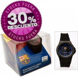 F.C.B Reloj Pulsera Deportivo Barcelona 100M/ Color Negro Ref 7001128