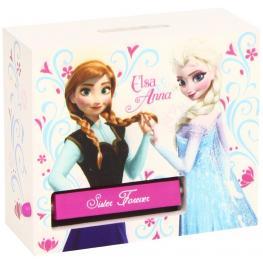 Frozen Money Bank Hucha de Madera Elsa y Ana Ref Wd92055