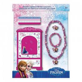 Frozen Organizador de Madera 1 Collar 1 Pulsera 1 Anillo y 4 Elasticos Ref Wd 16110
