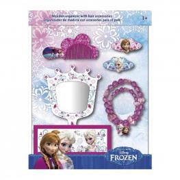 Frozen Organizador de Madera 1 Collar Con Accesorios 2 Clic Clac 1 Peine Ref Wd 16106