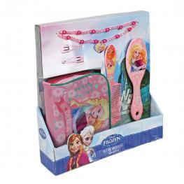 Frozen Set de Belleza 5 Piezas Collar ,neceser ,horquillas,cepillo Para el Pelo y Peine Ref 25040032