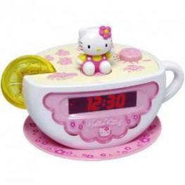 Hello Kitty Radio Sveglia Tea Cup Con Luces Kt2055