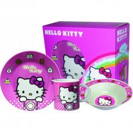 Hello Kitty Set Desayuno de Porcelana 3 Piezas Ref 36040
