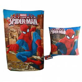Marvel Spiderman Cojin + Manta Polar Ref Mv92117
