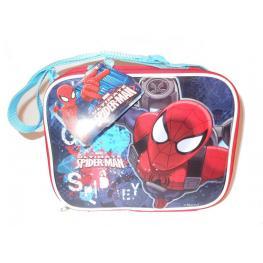 Marvel Spiderman Lunch Set Bottle 350Ml Bolsito Termico Icluido 1 Botella y 1 Taper de Plastico Ref