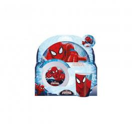 Marvel Spiderman Set de Plato, Vaso y Bols