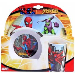 Marvel Spiderman Set de Vaso ,plato y Bols de Plastico