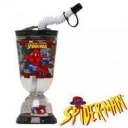 Marvel Spiderman Vaso de Plastico Con Pajita Ref 6820330