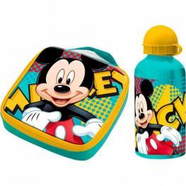 Mickey Mouse Sandwichera+Cantimplora Aluminio Ref 32001