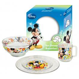 Mickey Set Desayuno 3 Piezas Ref 7399