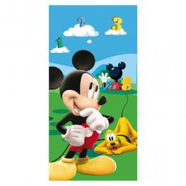 Mickey Toalla Playa Microfibra 70X140 Cm Con Bolsita Ref 704010102