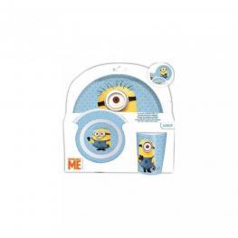 Minions Set Melamina S/orla 3Pcs Ref.76190