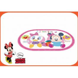 Minnie Mantel Individual Oval Rosa Baby