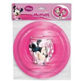 Minnie Set de Vajilla 3Pc. Plastico