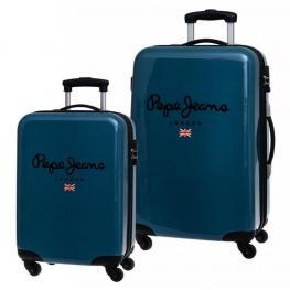 Pepe Jeans Maleta Trolley Color Azul 55X68Cm Ref 6041951
