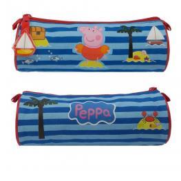 Peppa Pig Estuche Redondo Rayas Blue Ref.007-56451