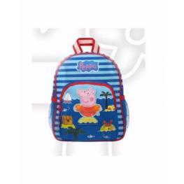 Peppa Pig Mochila Rayas Blue Inf. Peq. Ref.007-5447