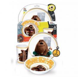 Pets Set de Vajilla 3 Piezas Melamina Ref 84390