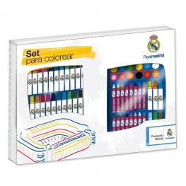 Real Madrid Set Para Colorear 62 Piezas Rf.750462