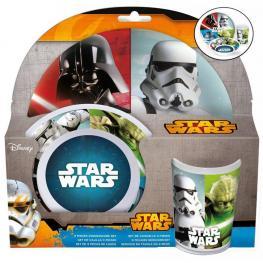 Star Wars Set de Vajilla Melamina 3 Piezas Ref 56790