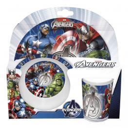 Vengadores Marvel Set de Mesa 3 Pzs. Melamina