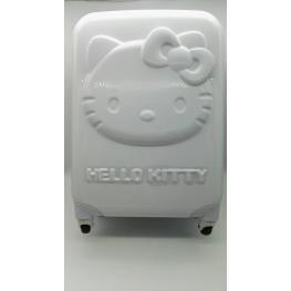 Maleta Hello Kitty 3D,4R Blanco Cod.10047Kc